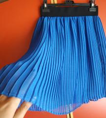 Podstavljena kraljevsko plava suknja, rucni rad