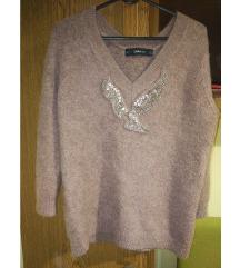 Zara alpaka dugački džemper