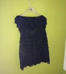 Crna haljina s volančićima