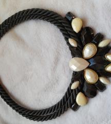 Crno-bež  ogrlica