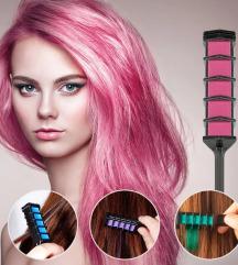 Lot privremena boja za kosu, uvijac