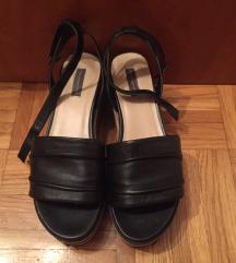 MASS crno smeđe sandale 39