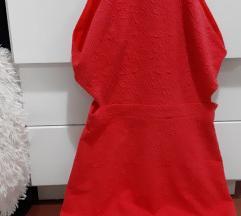 Bershka crvena cut out haljina%sexy