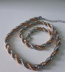 Srebrno zlatni lančić
