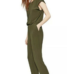 Zara olive jumpsuit