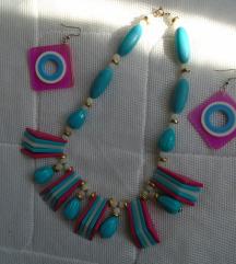 Šarena ogrlica i naušnice