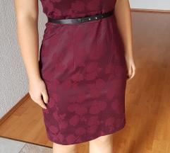 HM tamno crvena haljina + remen