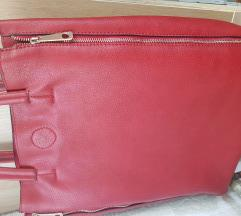 Crvena kožna torba 160 kn