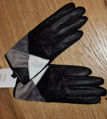 Kožne crne rukavice