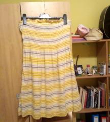 Žuta haljina s prugicama