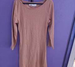 Uska haljina bež boje