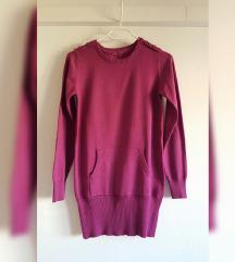 Ciklama pleteni pulover, tunika