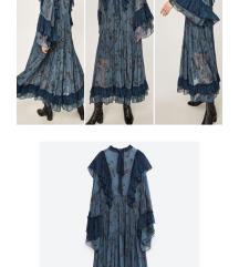 ZARA plava haljina