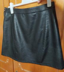 Kratka kožna suknja
