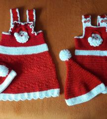 Božićni kompletići za bebe. Rucni rad