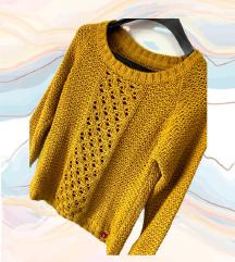 ESPRIT žuti končani pulover vel S M