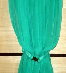 Emerald zelena haljina turska