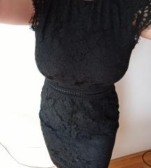 Nova H&M elegantna crna haljina