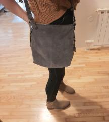 Esprit siva kožna torba