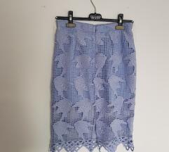 elegantna uska pastelno plava suknja