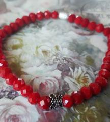 Crvena narukvica srebro
