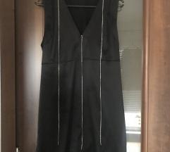 Zara haljina crna nenošena sa lancima cirkona