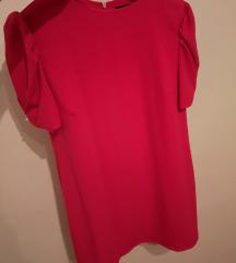 Zara mini haljina, puf rukavi