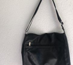Kožna Mexx crna torba