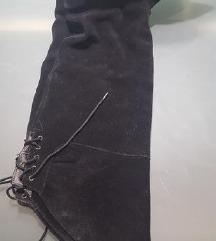 Kožne čizme iznad koljena br.38