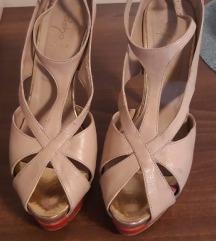 Sandale boja kože