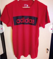 Adidas crvena majica vel S