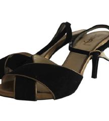 YSL crne sandale