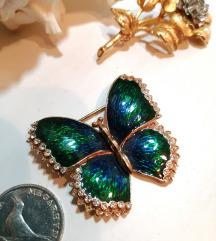 Vintage leptir broš