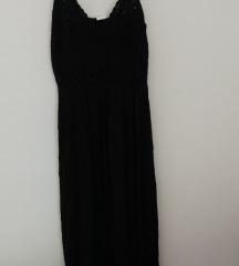 Crna duga haljina za plažu