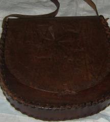 torba vintage boho kožna iz 70-tih