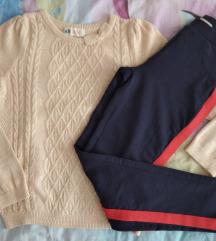 H&M puloverić+nove OVS deblje tajice