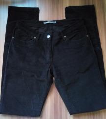 MANA tanke crne samtane hlače (XS/S)