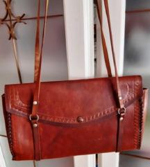 Vintage torba, prava koža, uklj.pt.