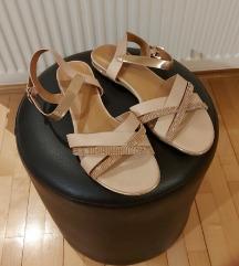 Zlatno-bež sandale