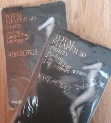 Calzedonia total shaper čarape vel L, 2 KOM - crne