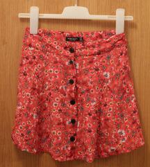 cvijetna ljetna mini suknjica na dugmiće
