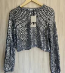 Nova Zara pletena majica s etiketom