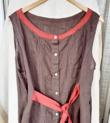 Vintage ručno izrađena haljina-košulja L