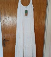 Nova midi bijela haljina s etiketom