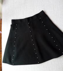 Pletena suknja sa zakovicama, Zara