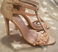 Rose gold sandale