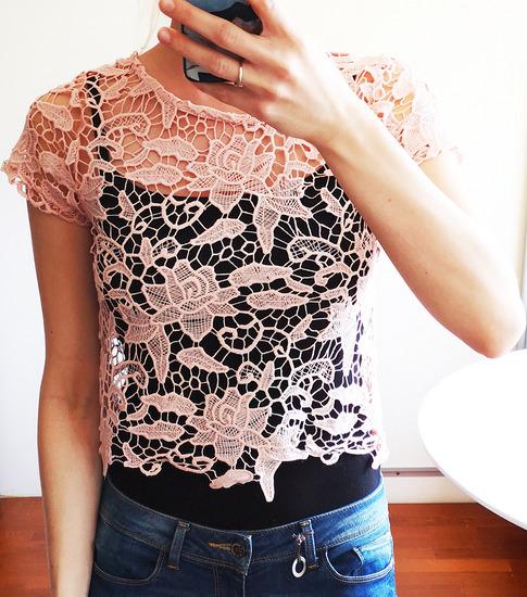 RJEŠAVANJE ZALIHA-Potpuno nova čipkasta bluza