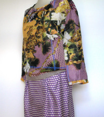 ODEEH dizajnerski komplet kostim od prave svile