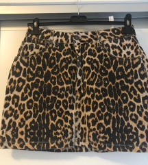 Pull&bear suknja tigrastog uzorka