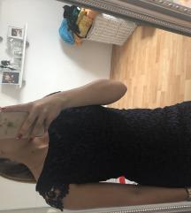 Tamnoplava čipkasta haljina
